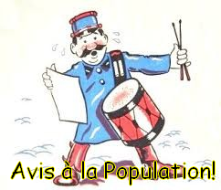 Avis à la population !
